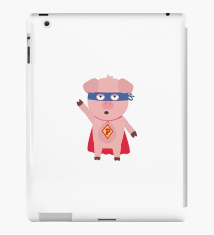 Superhero Pig  iPad Case/Skin