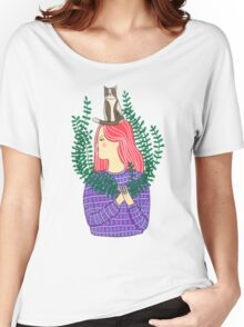 Cat on the head Women's Relaxed Fit T-Shirt