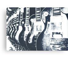 Guitar Shop Screen print Canvas Print