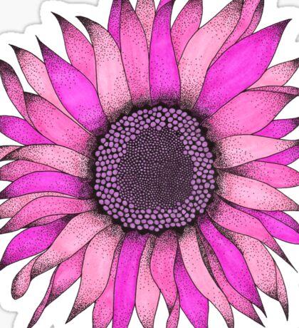 Pink Sunflower Graphizen Sticker