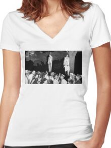 The sins of the father Women's Fitted V-Neck T-Shirt