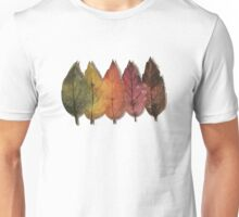 Forest leaves from spring to winter Unisex T-Shirt
