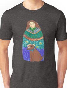 Lady and the dog Unisex T-Shirt