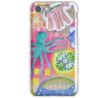 Blue Octopus and white Knight  iPhone Case/Skin