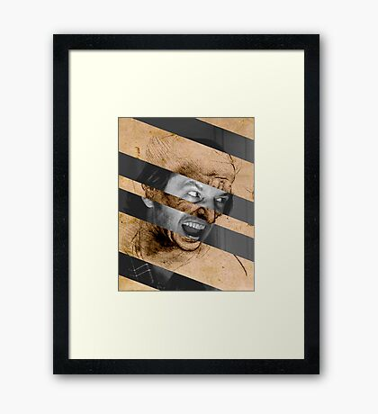 "Leonardo da Vinci's ""Head for The Battle of Anghiari"" & Jack Nicholson in Shining Framed Print"