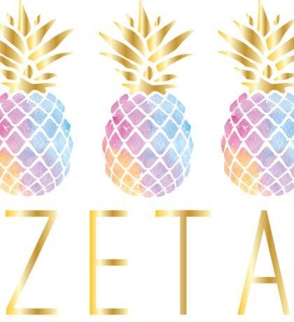 zeta pineapple  Sticker