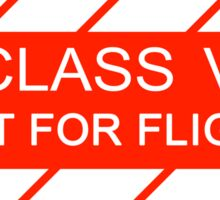 NASA - CLASS V Not For Flight Sticker