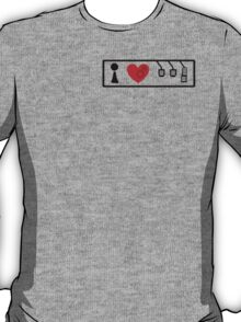 I Love Driving Manuals (Small) T-Shirt
