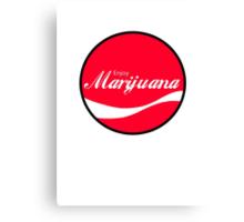 Enjoy Marijuana Red Canvas Print