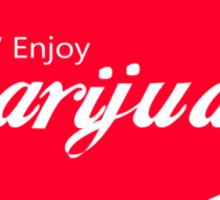 Enjoy Marijuana Red Sticker