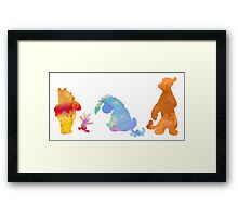 Friends together Inspired Silhouette Framed Print
