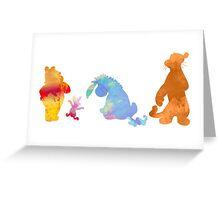 Friends together Inspired Silhouette Greeting Card
