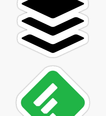 Buffer and Feedly Stickers Sticker