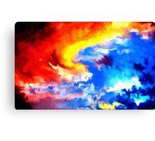 heaven sunset sunrise sky abstract Canvas Print