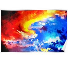 heaven sunset sunrise sky abstract Poster