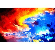 heaven sunset sunrise sky abstract Photographic Print