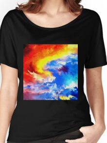 heaven sunset sunrise sky abstract Women's Relaxed Fit T-Shirt