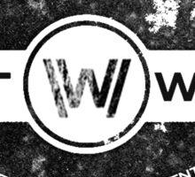 Westworld Retro Logo 3 Sticker