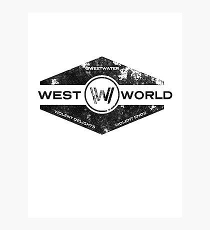 Westworld Retro Logo 3 Photographic Print