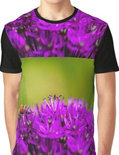 Bee and purple flower Graphic T-Shirt