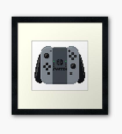 Nintendo switch controller in pixelart Framed Print