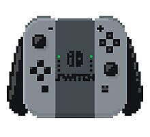 Nintendo switch controller in pixelart Photographic Print