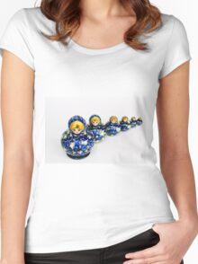 Babushka nesting dolls Women's Fitted Scoop T-Shirt