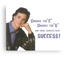 Danny Tanner teaches mnemonic devices! Canvas Print