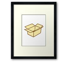 Cardboard box Framed Print