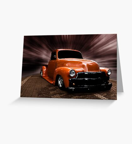 GMC Truck, Chevrolet Pick Up 1954 Greeting Card