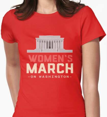Washington Women March Womens Fitted T-Shirt