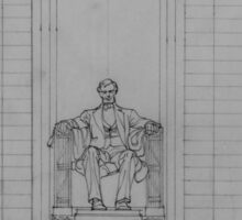 Lincoln Memorial Sketch Sticker
