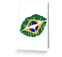 Brazil kiss lips Greeting Card