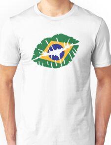 Brazil kiss lips Unisex T-Shirt
