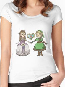 Queer Zelda and Lady Link in love Women's Fitted Scoop T-Shirt