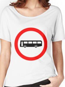 Bus UK British Cool Circle Transportation Women's Relaxed Fit T-Shirt
