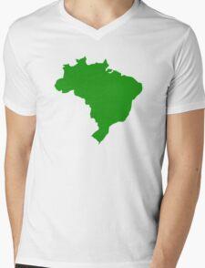 Brazil map Mens V-Neck T-Shirt