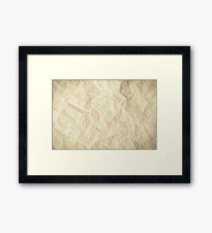 Grunge torn paper Framed Print