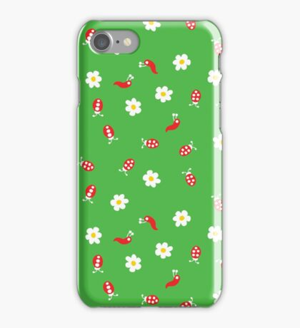 Ladybugs, Worms and Flowers iPhone Case/Skin