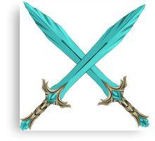 Epic Glass Sword Cross Canvas Print