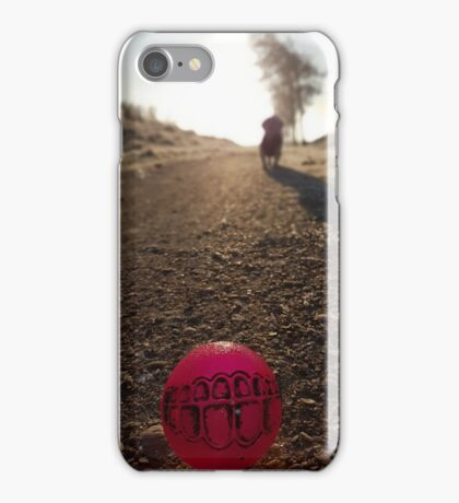 Ball with dog  iPhone Case/Skin
