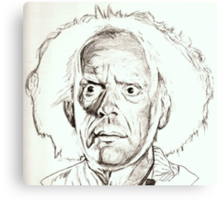 Christopher Lloyd, Doc Brown, drawing Canvas Print