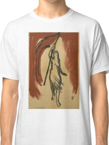 Woman Carrying Red Flag Classic T-Shirt