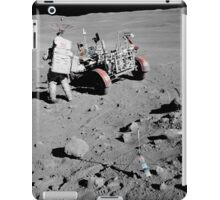 Apollo 16 astronaut stands near the Lunar Roving Vehicle. iPad Case/Skin