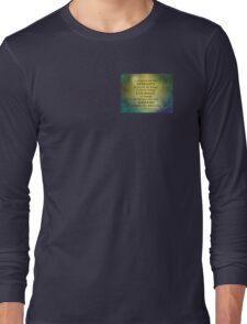 Serenity Prayer Gold on Blue-Green Long Sleeve T-Shirt