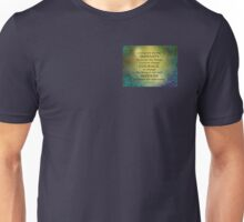 Serenity Prayer Gold on Blue-Green Unisex T-Shirt