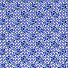 Blueberry Cluster Polk-a-dot Pattern by SaradaBoru