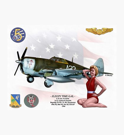 Sleepy Time Gal (Republic P-47D Thunderbolt) Photographic Print