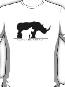 Save The Rhino (White Background) T-Shirt