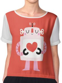 Love Robot Chiffon Top